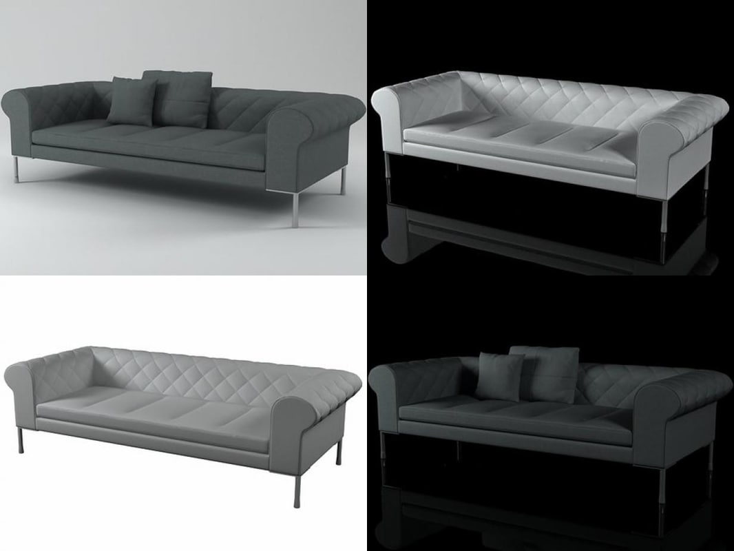 3D barocco sofa 236
