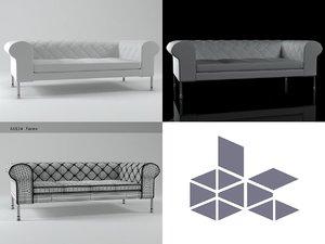 barocco sofa 200 3D