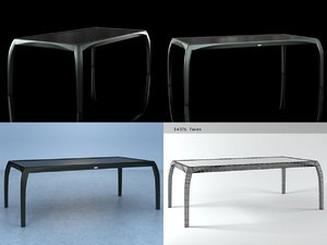 3D phoenix large dining table model