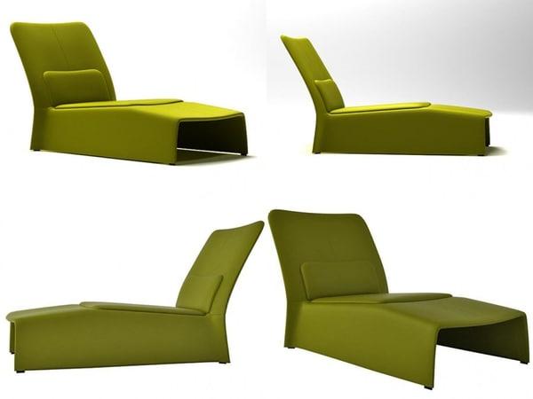 glove chaise longue 3D model
