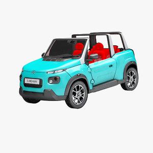 3D e-mehari electric car