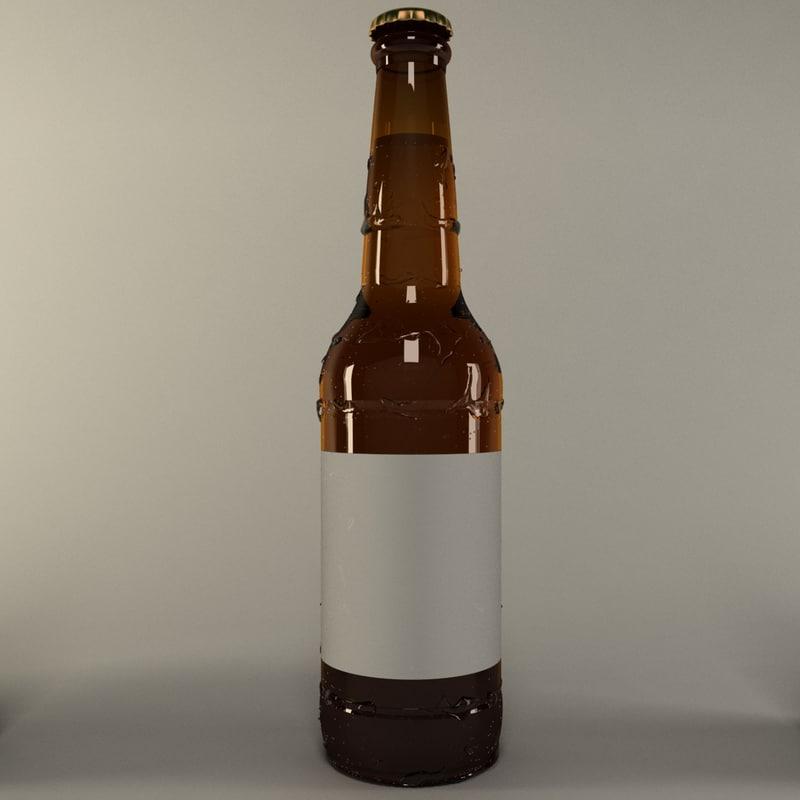 beer bottle preset 3D model