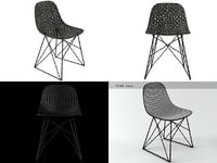 carbon chair 3D