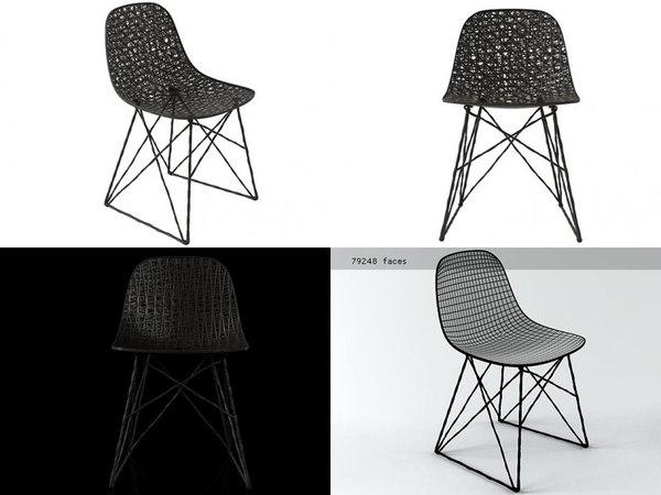 carbon chair 3D