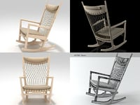pp124 rocking chair 3D model