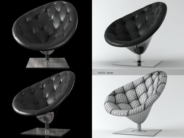3D moor e leather model