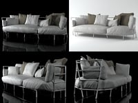 3D model dehors sofa 372