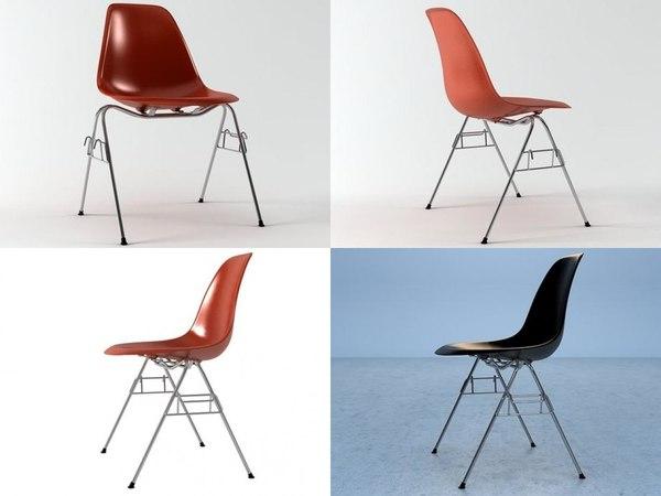 3D eames plastic chair dss model