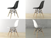 eames plastic chair dsw 3D model