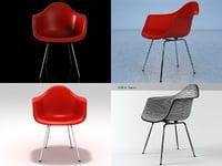 eames plastic armchair dax 3D