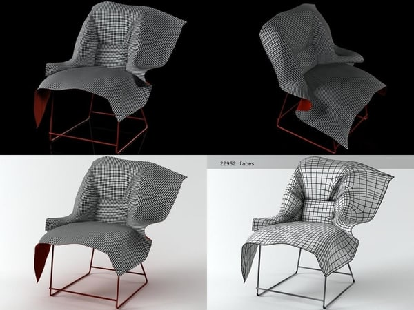 volant chair covered 3D model