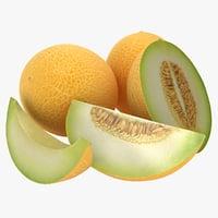 realistic melon 03 3D model