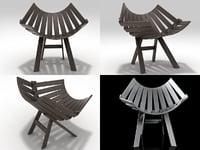 3D chair moooi