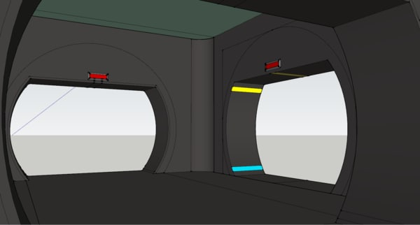 3D ce connector corridor model