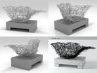 sculpture socle sitting object 3D