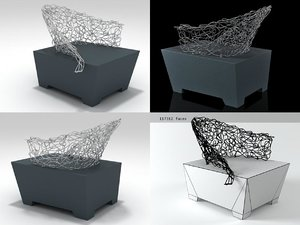 sculpture socle easy chair 3D model