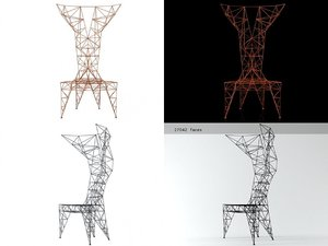 3D pylon chair cappellini model