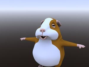 humster cartoon rigged 3D