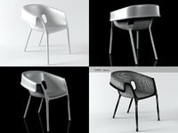 reverse chair 3D model