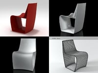 3D sign chair