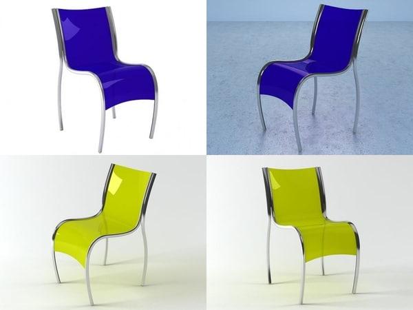 3D fpe chair kartell model