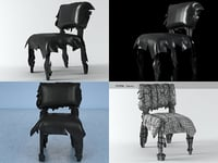 leatherworks chair 3D