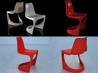 3D 290 cantilever chair model