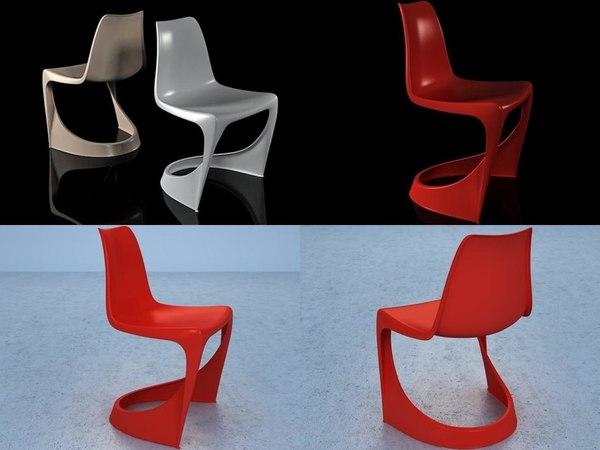 3D 290 cantilever chair model