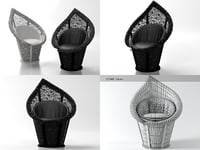 3D lily lace chair