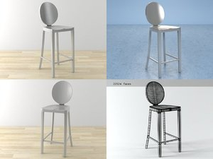 kong counter stool 3D
