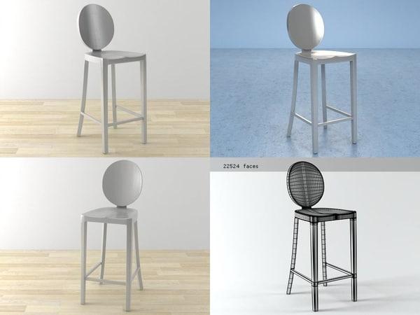kong counter stool 3D