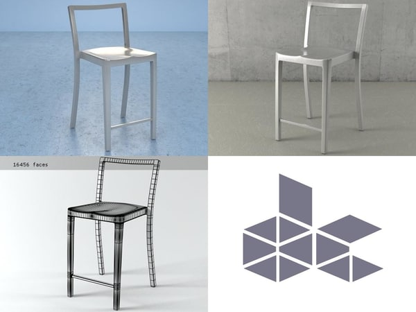 icon counter stool 3D model