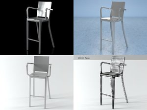 hudson barstool arms 3D model