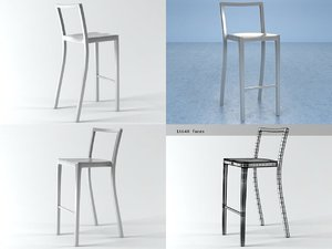 3D icon barstool model