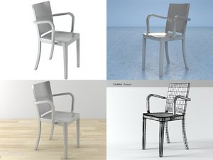 3D hudson armchair model