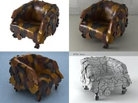 leatherworks armchair 3D model