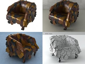leatherworks armchair 3D model