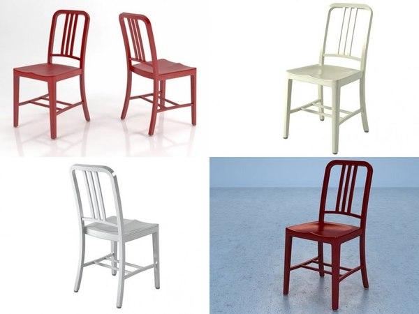 3D navy chair