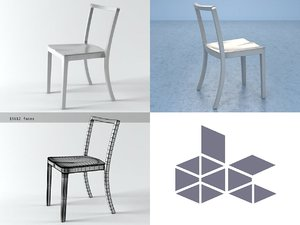 3D icon chair model