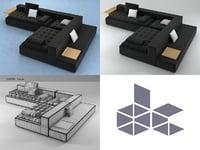 3D model domino 9