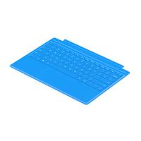 flat surface keyboard 3D model