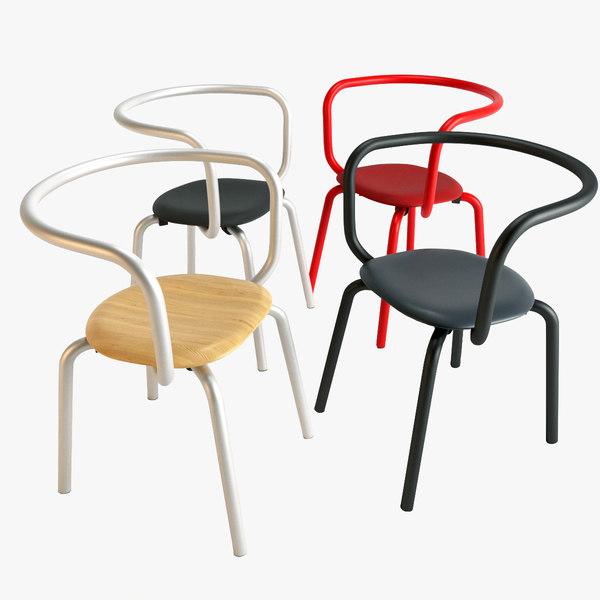 3D emeco parrish chair model