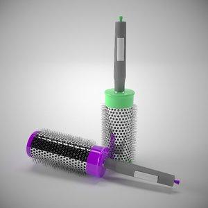 3D hairbrush colors model
