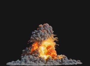 houdini explosion 3D