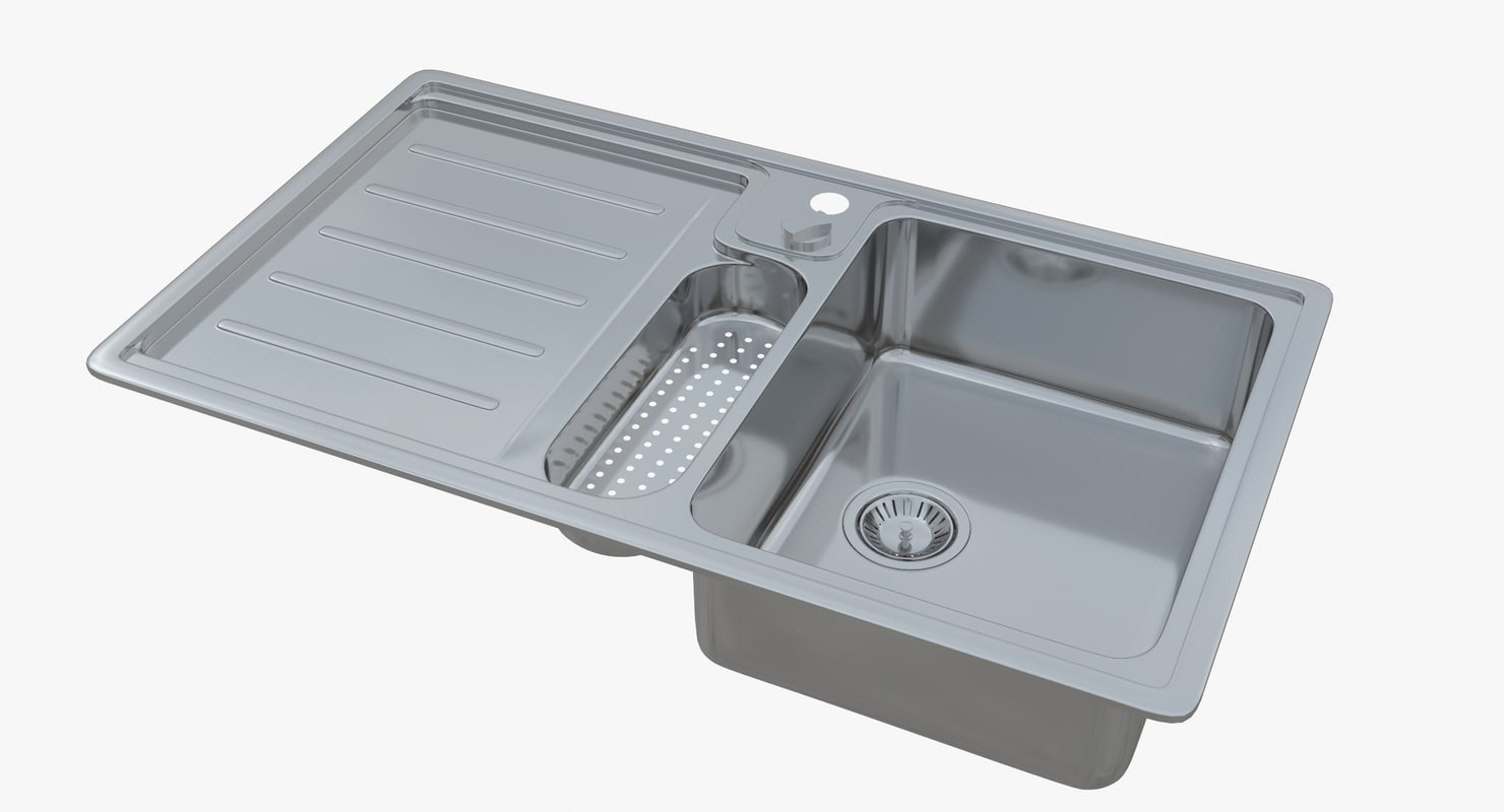 3D sink franke atlantis alx model