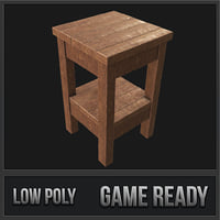 end table 01 pbr 3D model