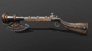 3D axe musket model