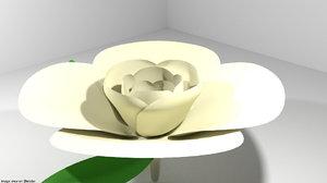3D flower garden gardenia
