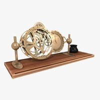 3D table clock model