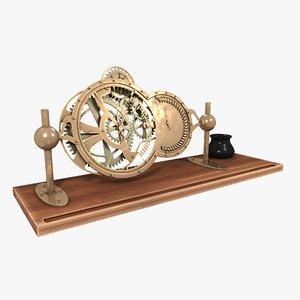 3D table clock model